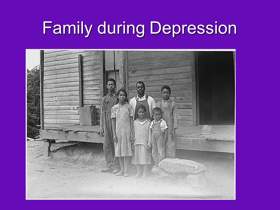 Family during Depression