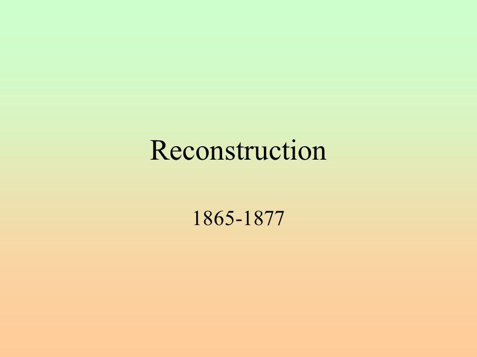 Reconstruction 1865-1877