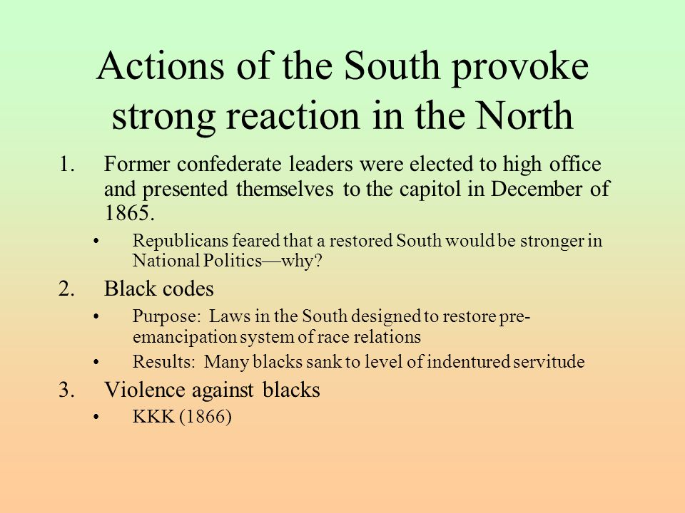 Actions of the South provoke strong reaction in the North