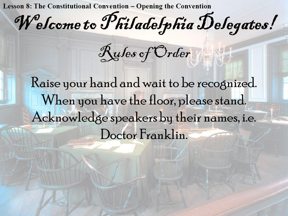 Welcome to Philadelphia Delegates!