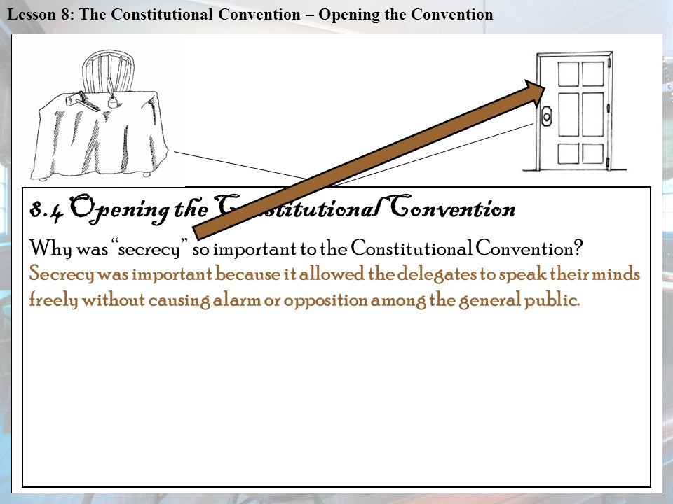 8.4 Opening the Constitutional Convention