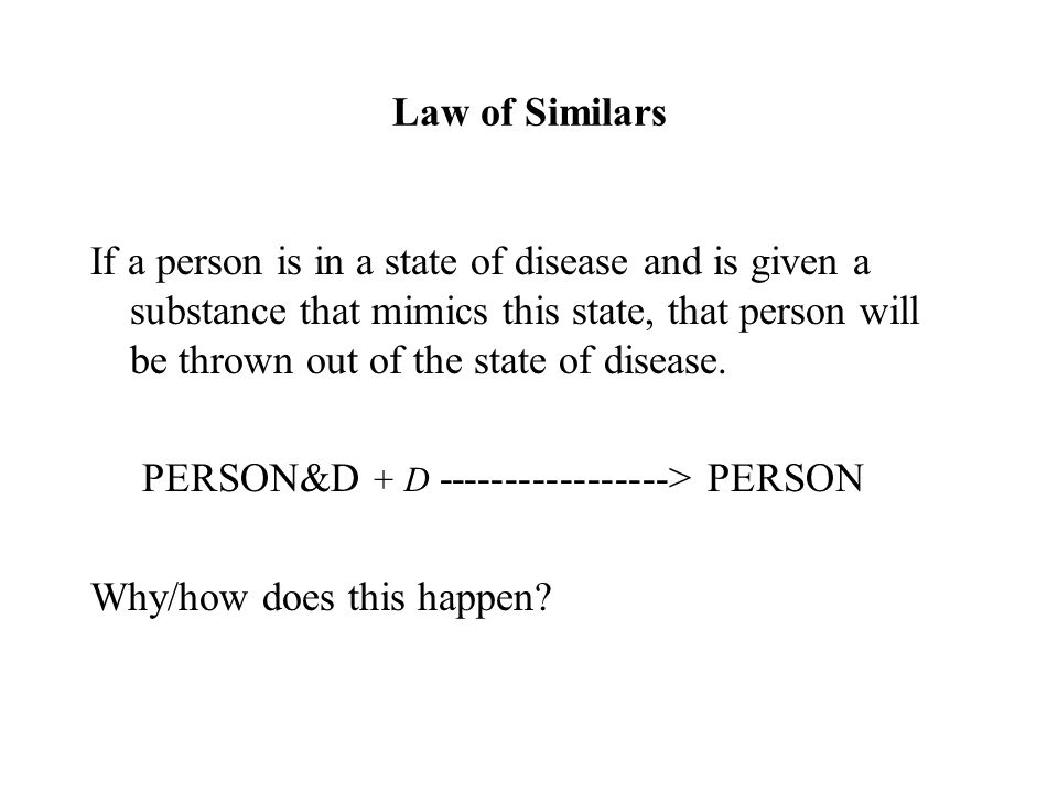 Law of Similars