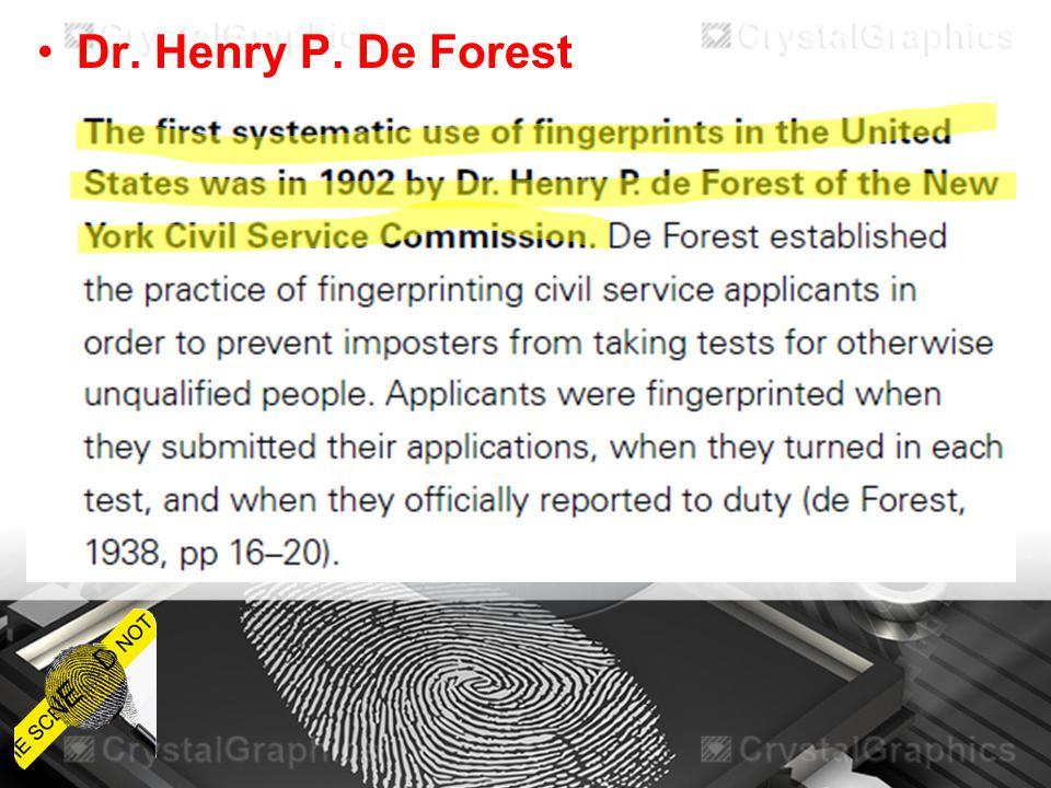 Dr. Henry P. De Forest