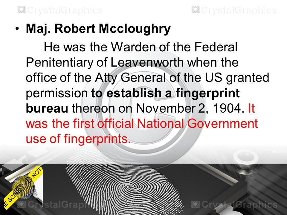 Maj. Robert Mccloughry