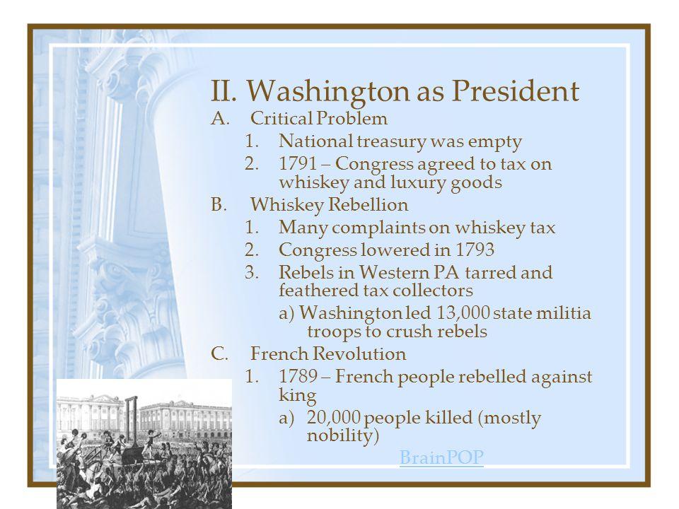 II. Washington as President