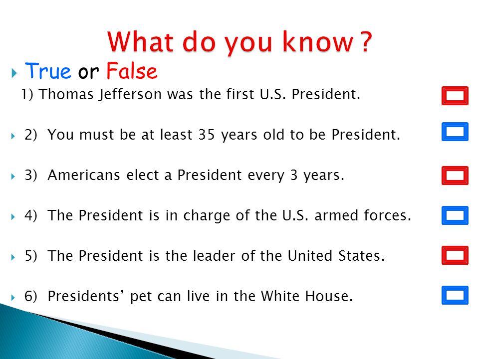 What do you know True or False