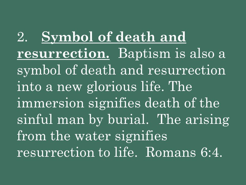 2. Symbol of death and resurrection