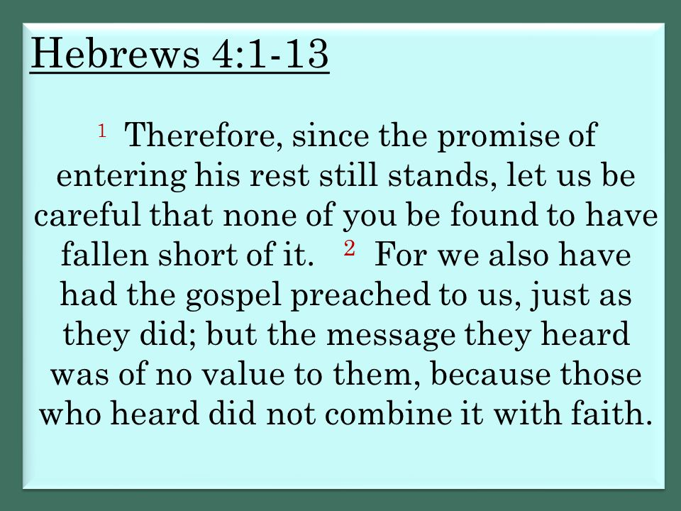 Hebrews 4:1-13