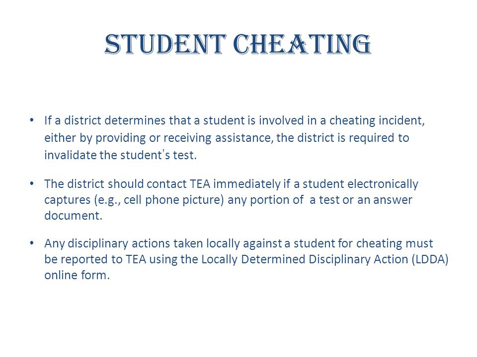 Student Cheating