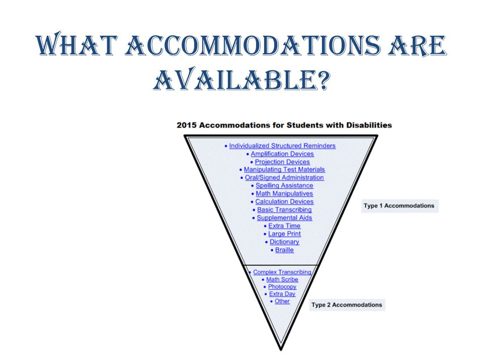 What accommodations are available