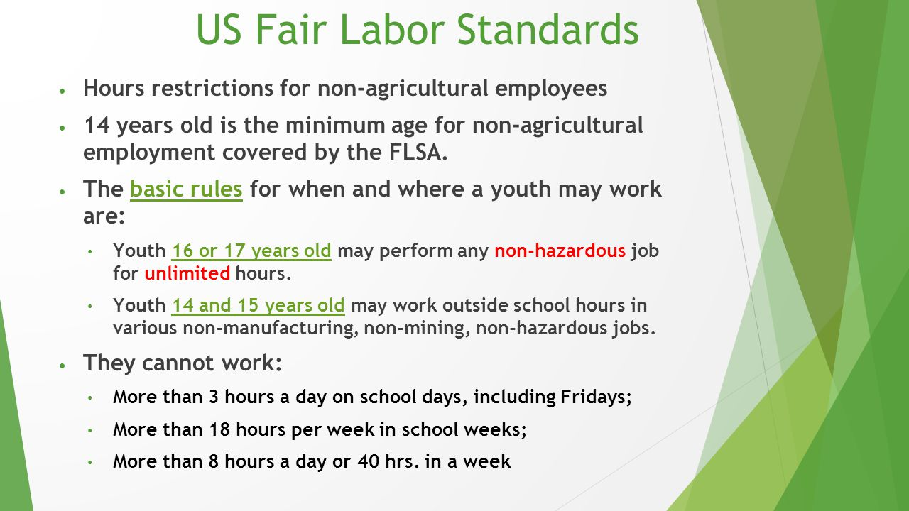 US Fair Labor Standards