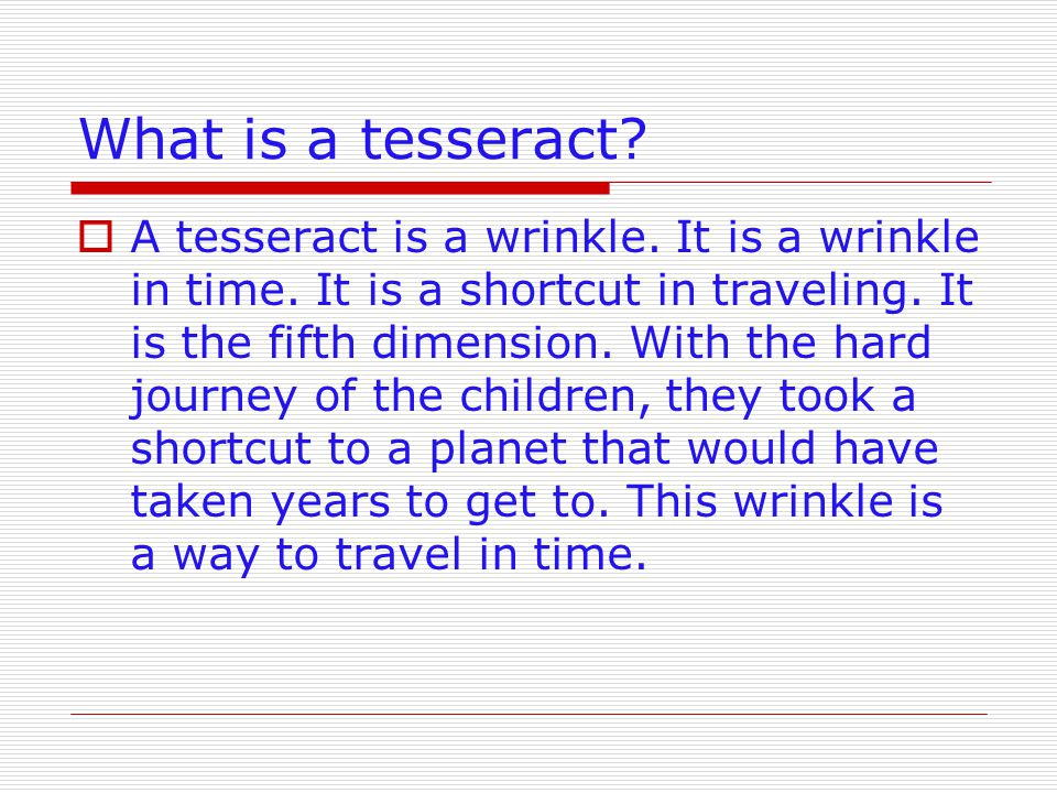 What is a tesseract
