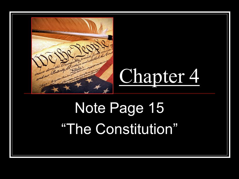 Note Page 15 The Constitution