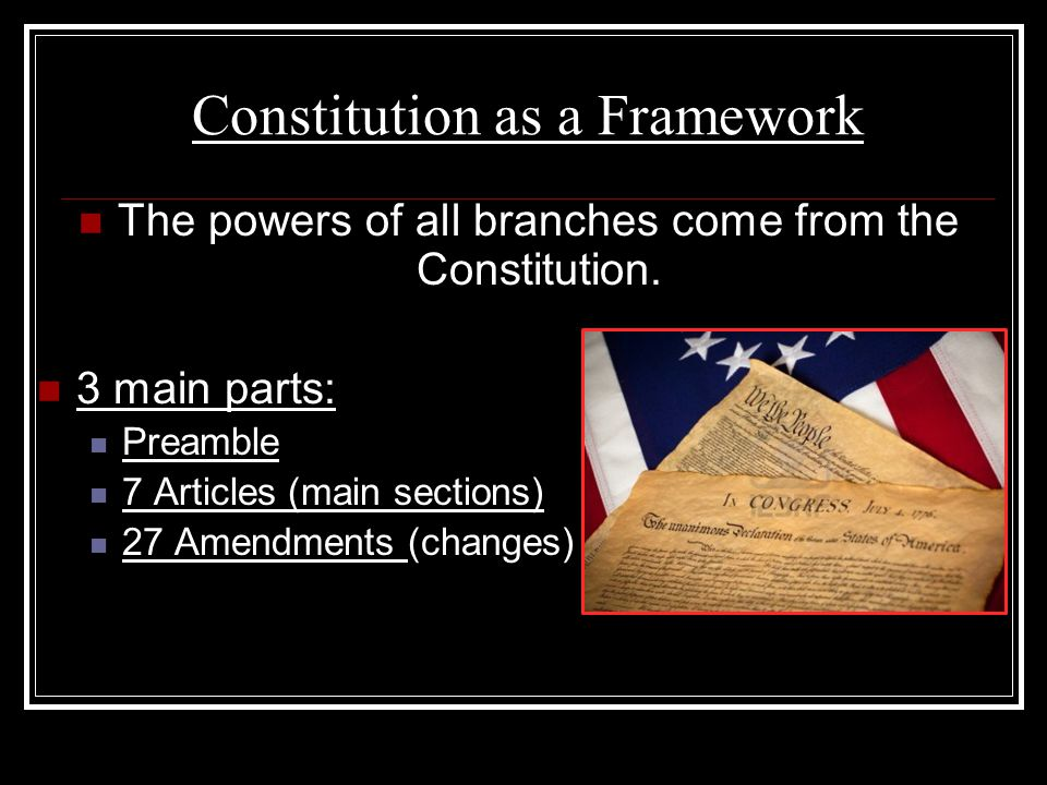 Constitution as a Framework