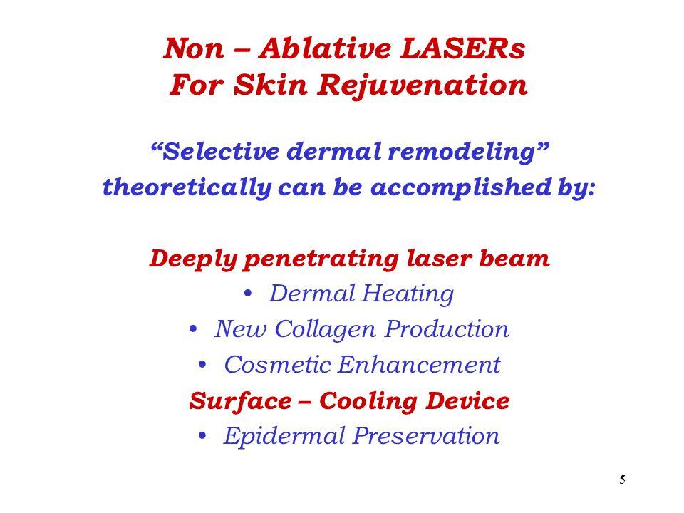 Non – Ablative LASERs For Skin Rejuvenation