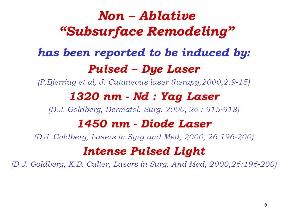 Non – Ablative Subsurface Remodeling