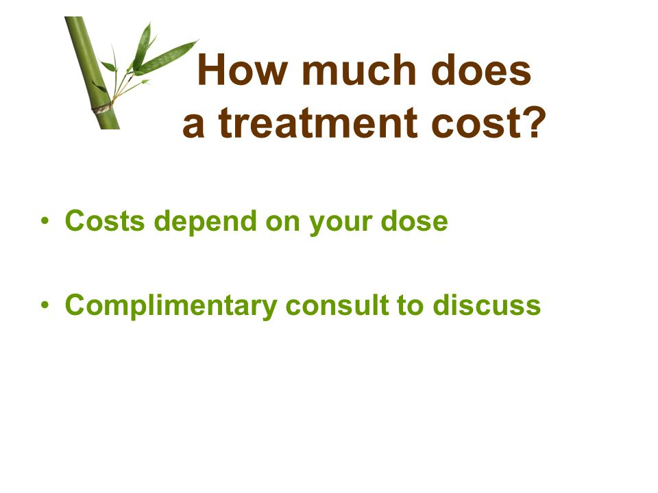 How much does a treatment cost