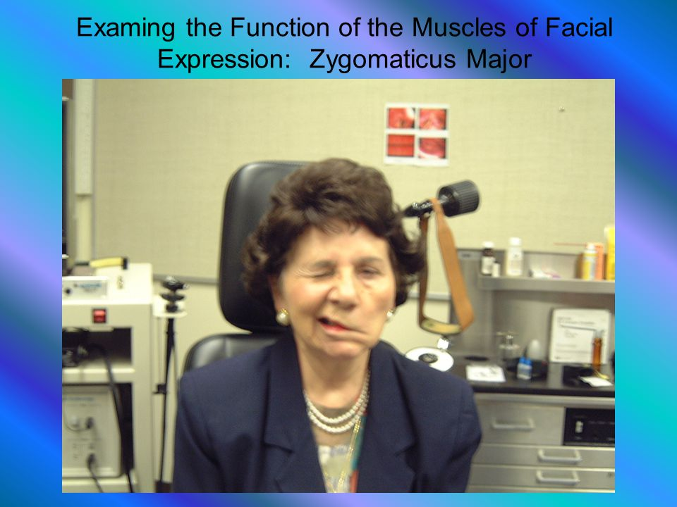 Examing the Function of the Muscles of Facial Expression: Zygomaticus Major