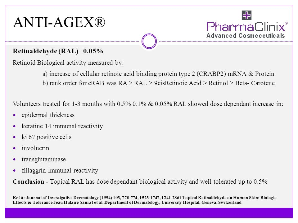 ANTI-AGEX® Retinaldehyde (RAL) - 0.05%