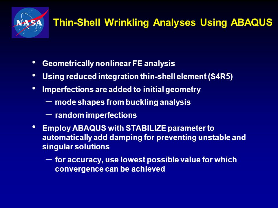 Thin-Shell Wrinkling Analyses Using ABAQUS