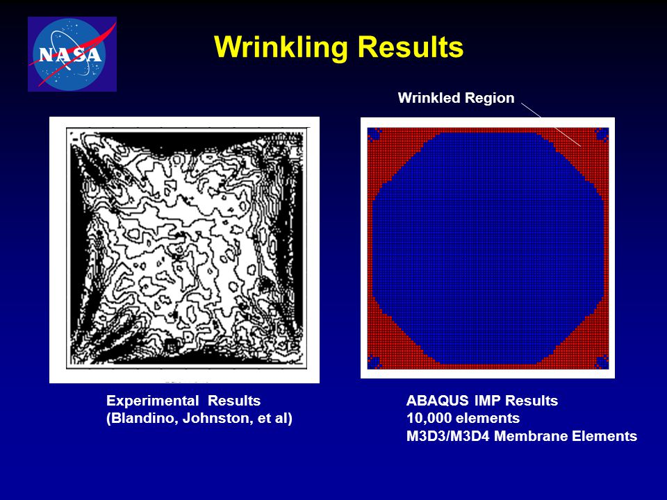 Wrinkling Results Wrinkled Region Experimental Results