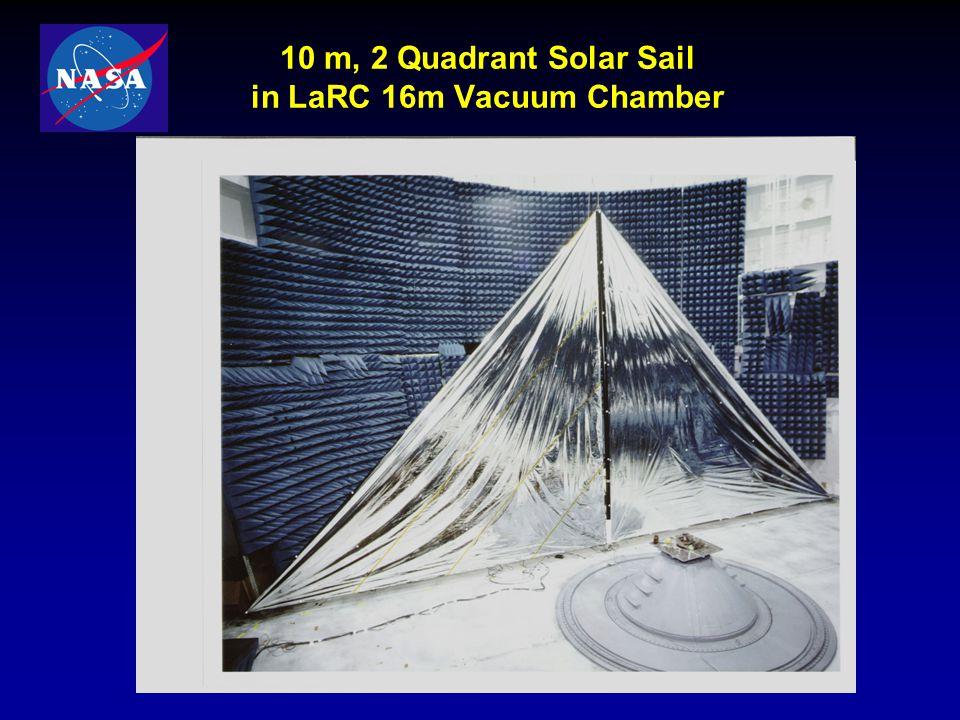 10 m, 2 Quadrant Solar Sail in LaRC 16m Vacuum Chamber
