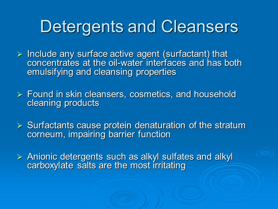 Detergents and Cleansers