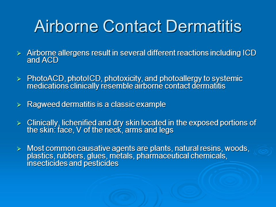 Airborne Contact Dermatitis