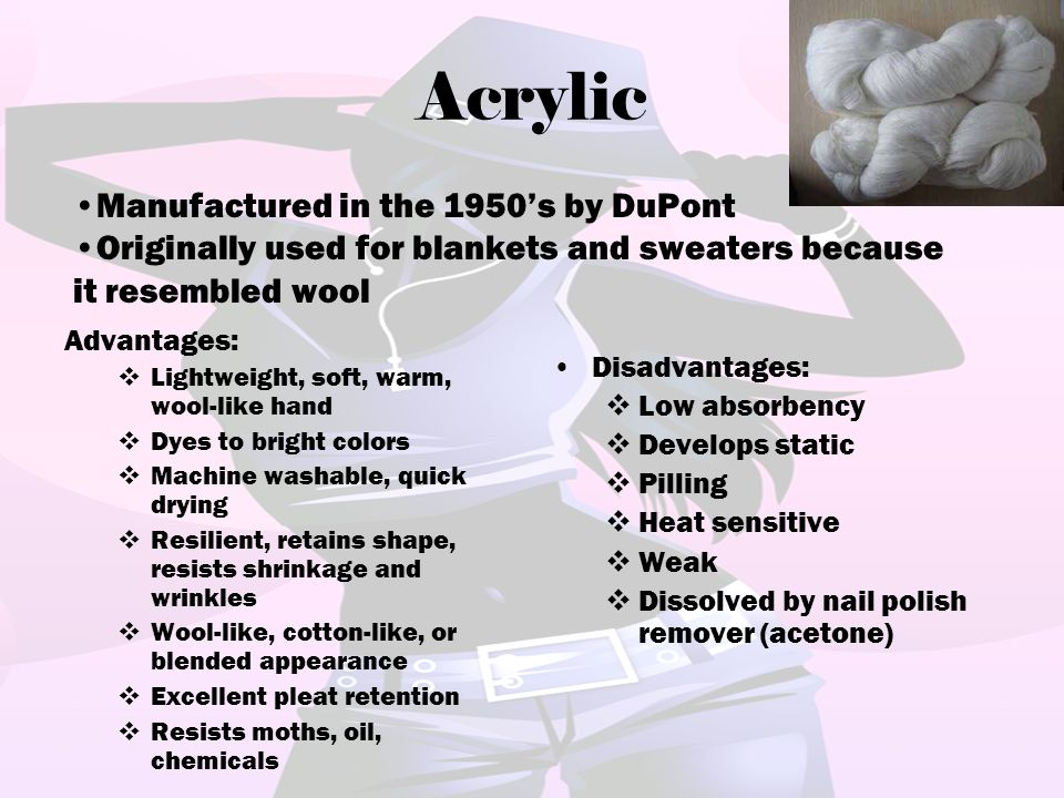 Acrylic Manufactured in the 1950's by DuPont