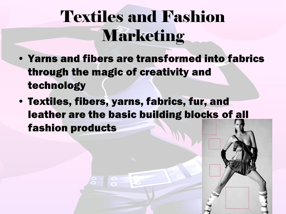 Textiles and Fashion Marketing