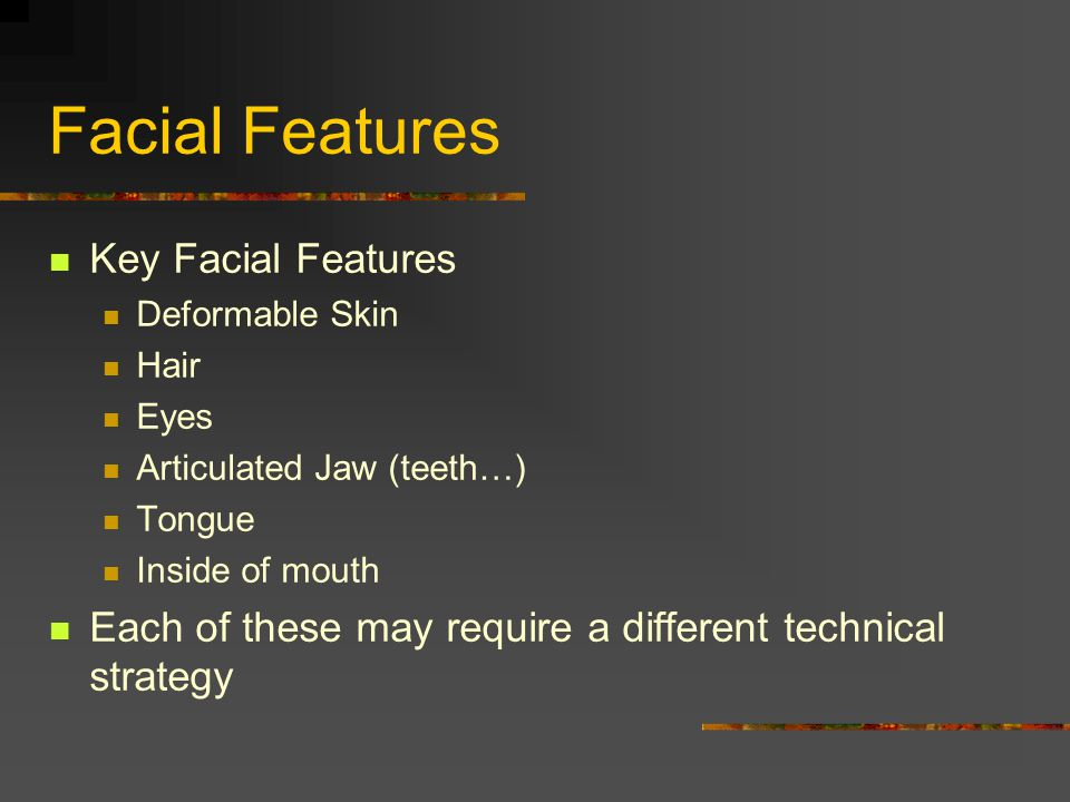 Facial Features Key Facial Features