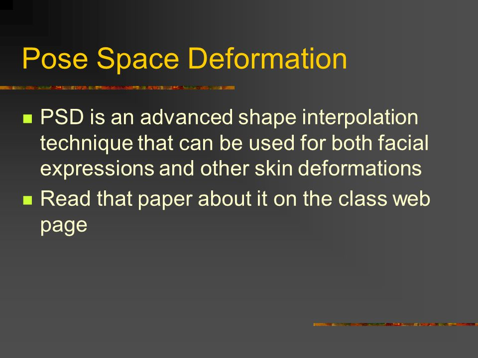 Pose Space Deformation