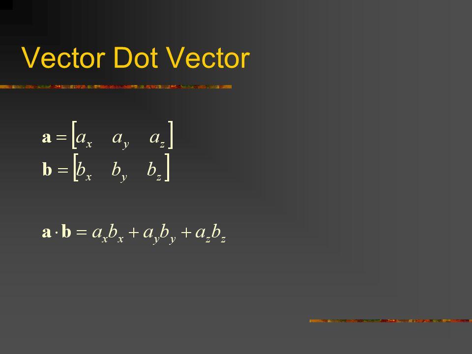 Vector Dot Vector