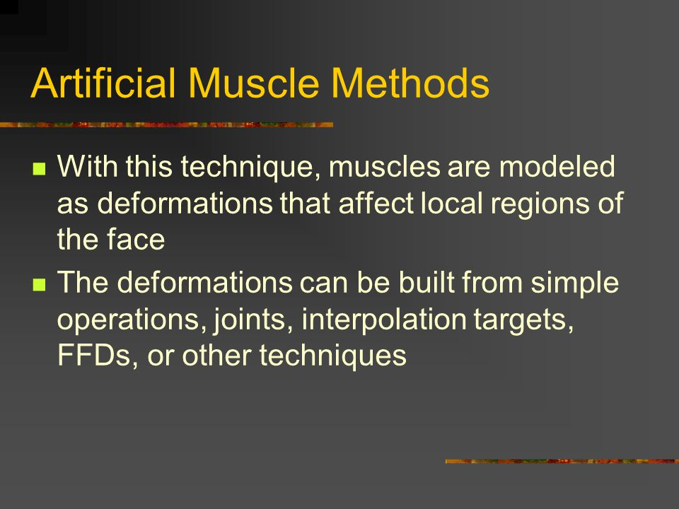 Artificial Muscle Methods