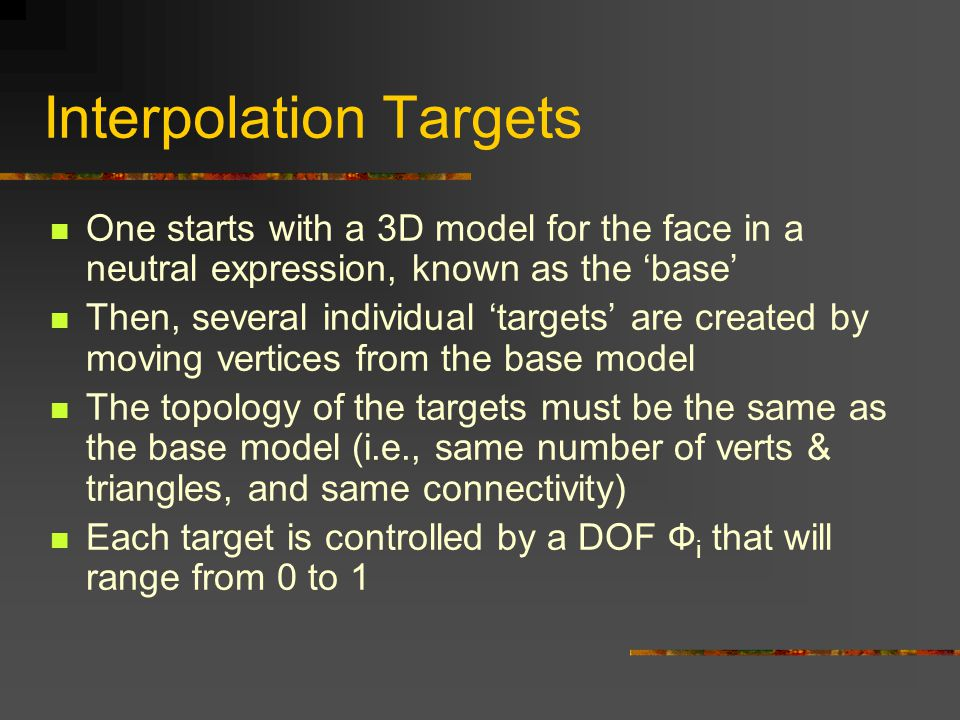 Interpolation Targets