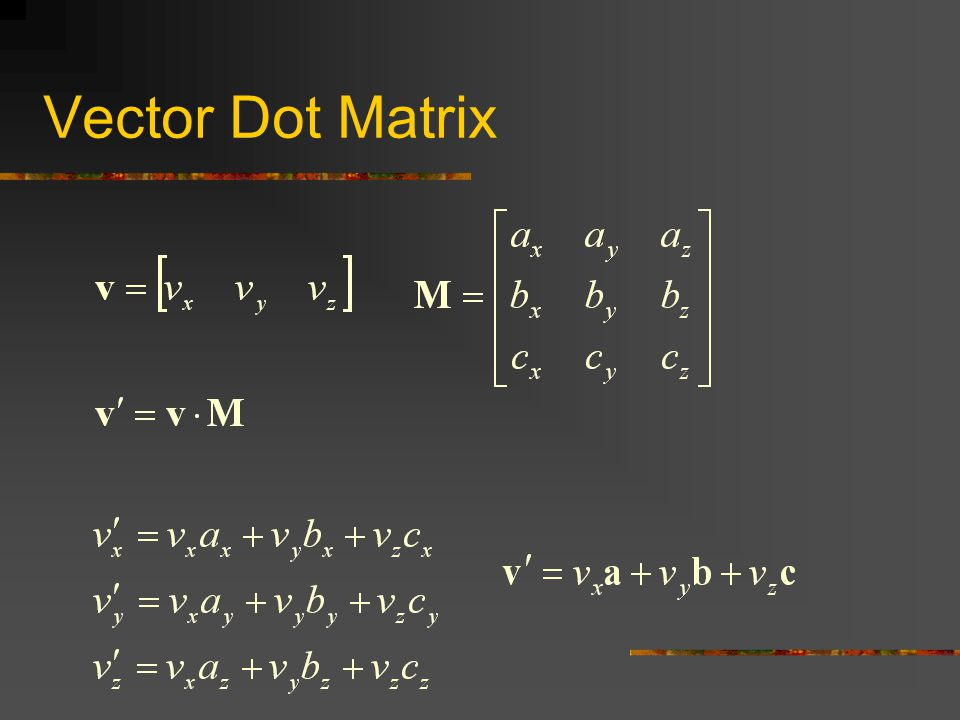 Vector Dot Matrix