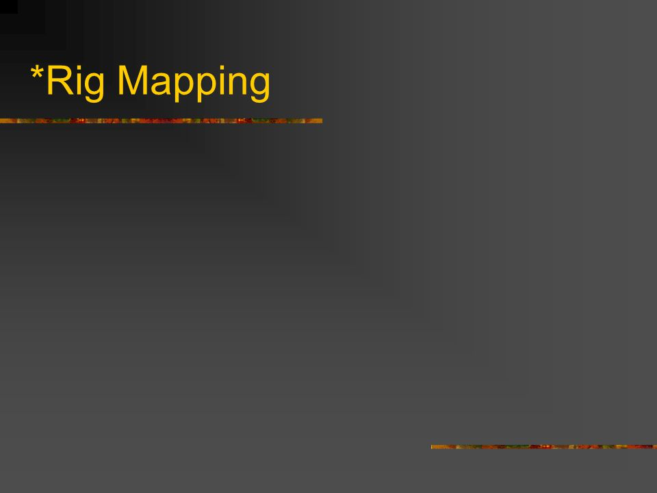 *Rig Mapping