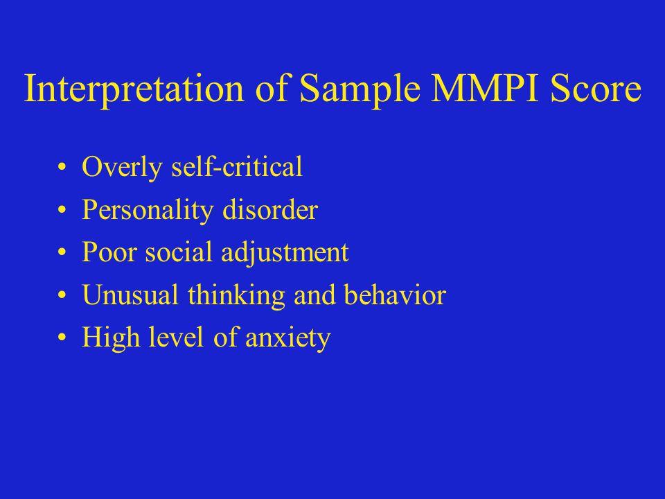 Interpretation of Sample MMPI Score