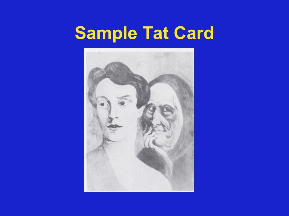 Sample Tat Card