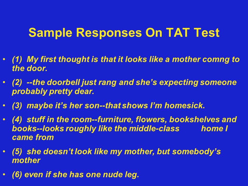 Sample Responses On TAT Test