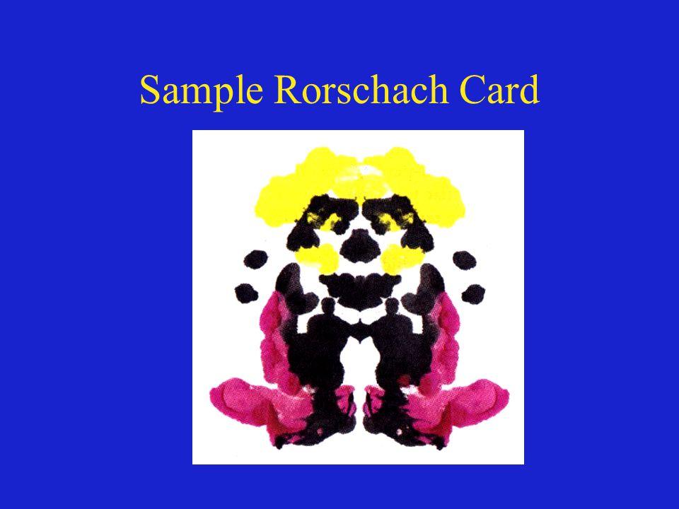 Sample Rorschach Card