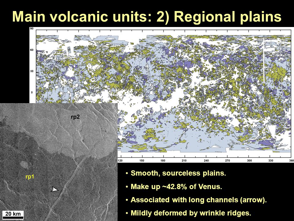 Main volcanic units: 2) Regional plains