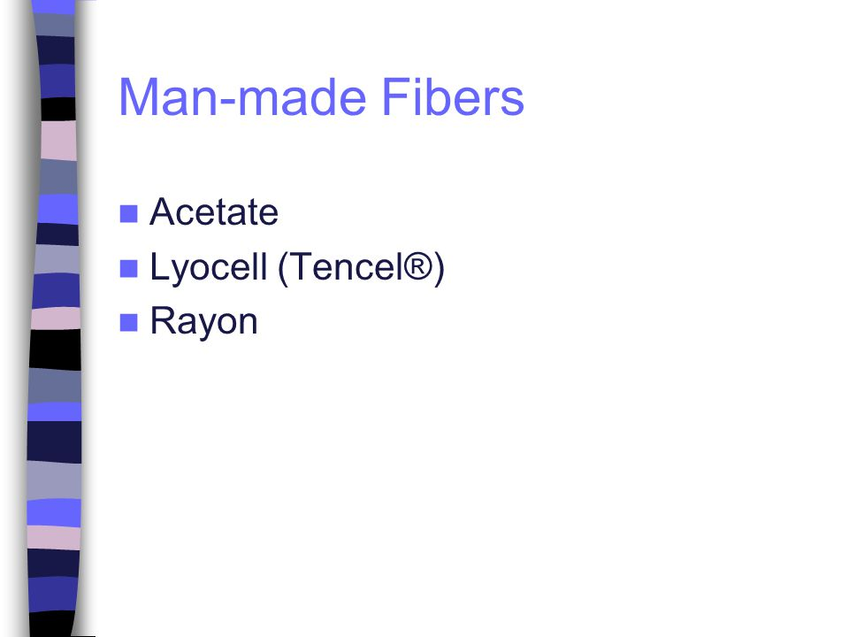 Man-made Fibers Acetate Lyocell (Tencel®) Rayon