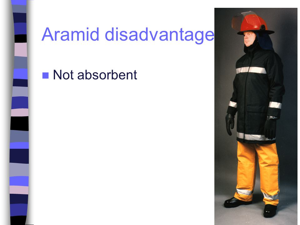Aramid disadvantages Not absorbent