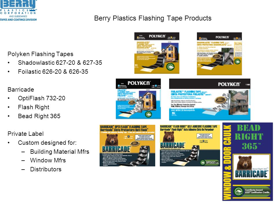 Berry Plastics Flashing Tape Products