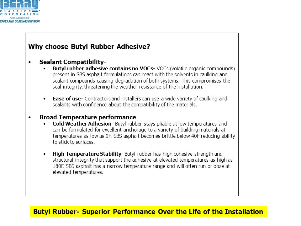 Why choose Butyl Rubber Adhesive