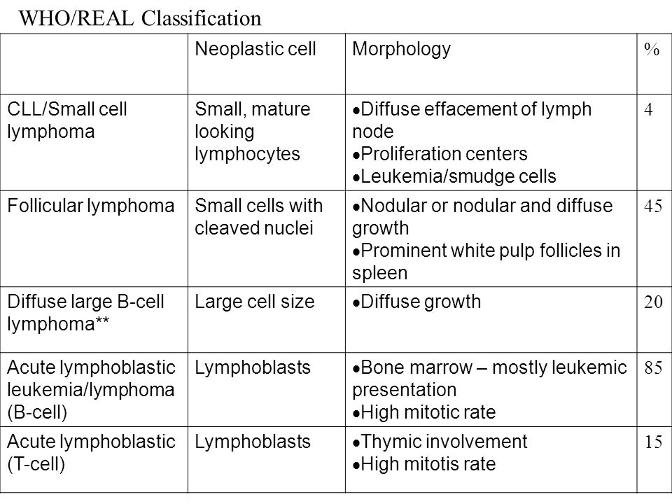 WHO/REAL Classification