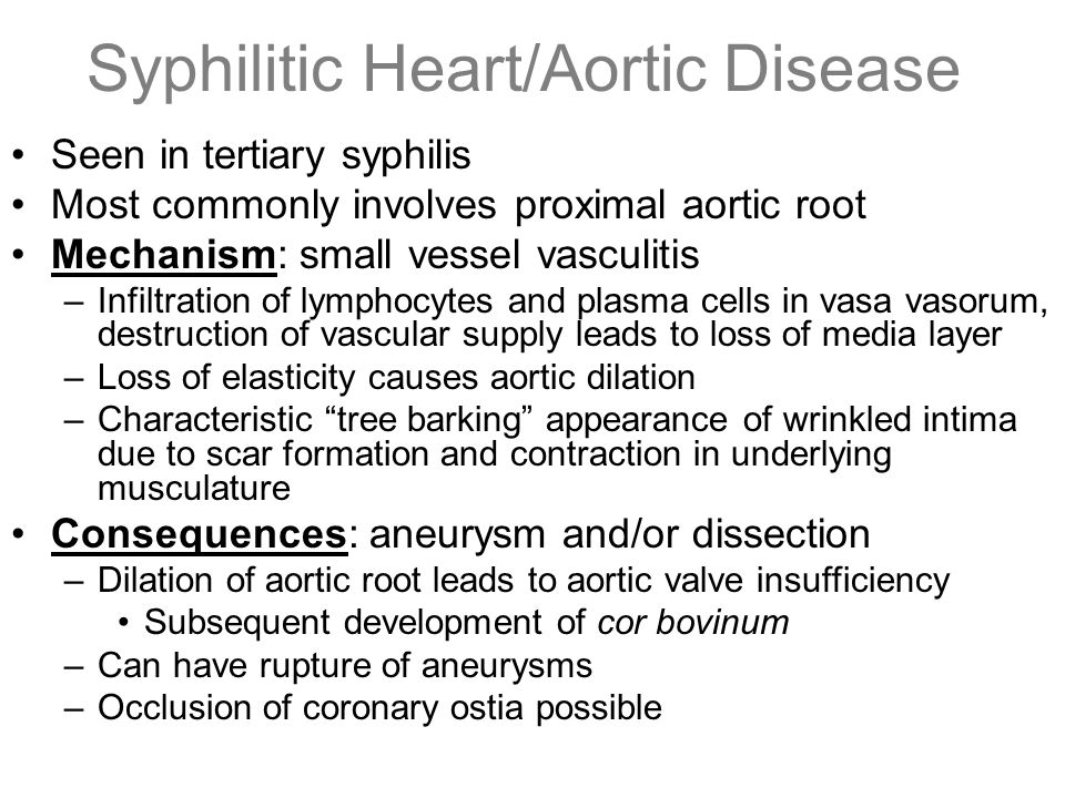 Syphilitic Heart/Aortic Disease