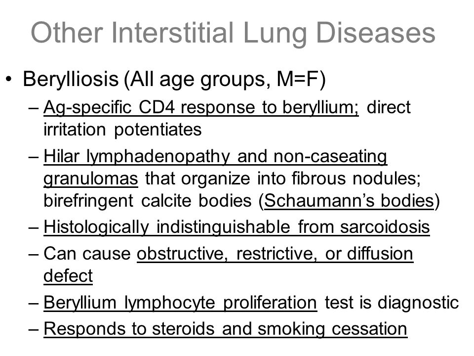 Other Interstitial Lung Diseases