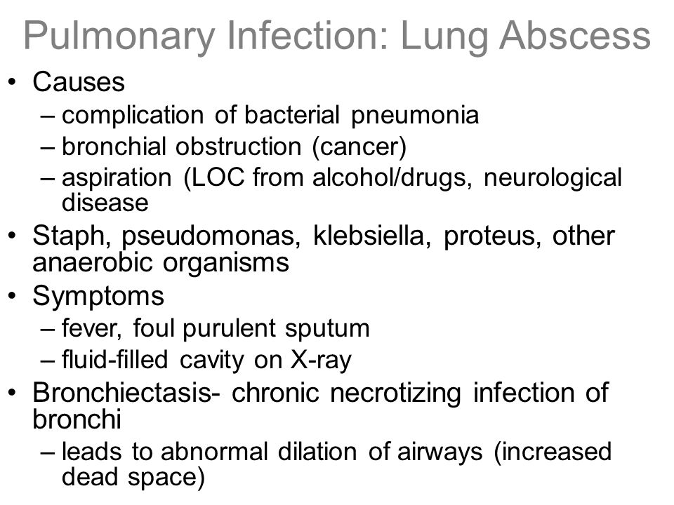 Pulmonary Infection: Lung Abscess